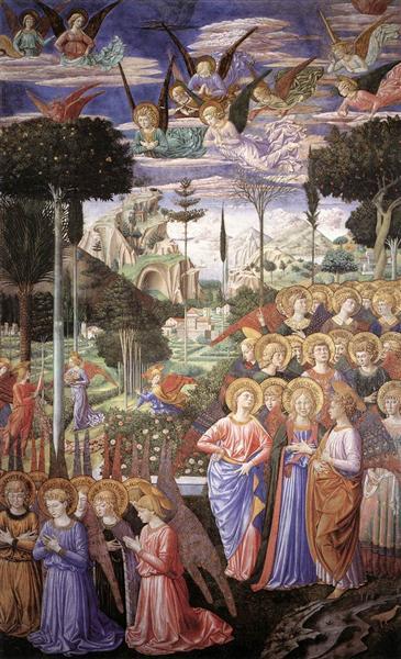 Adorando ángeles - Benozzo Gozzoli