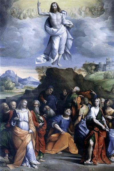 Ascensión de Cristo - Benvenuto Tisi