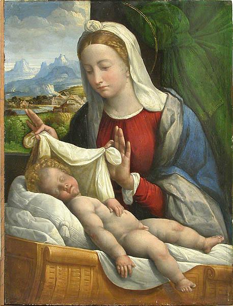 baby jesus sleeping 1550 benvenuto tisi wikiart org