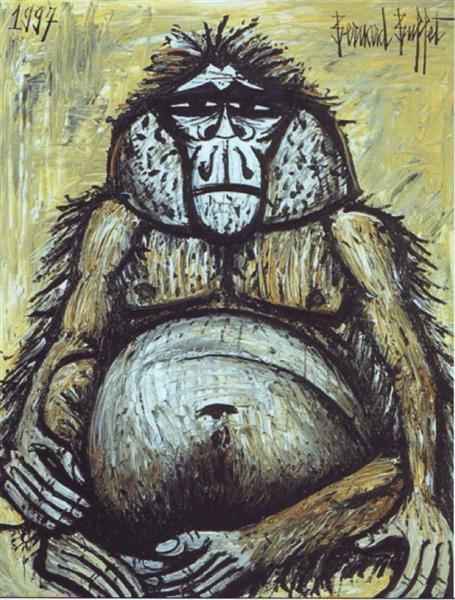 Orang-outan femelle, 1997 - Bernard Buffet