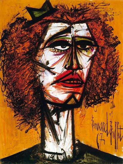 Tête rousse, 1967 - Bernard Buffet