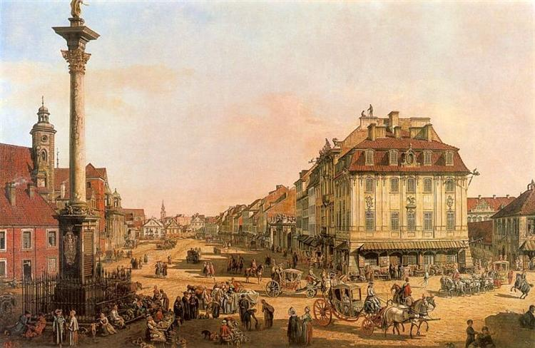 Cracow Suburb seen from the Cracow Gate, c.1768 - Бернардо Беллотто