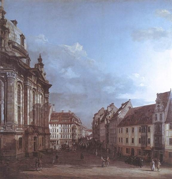 Dresden, the Frauenkirche and the Rampische Gasse, c.1750 - Бернардо Беллотто