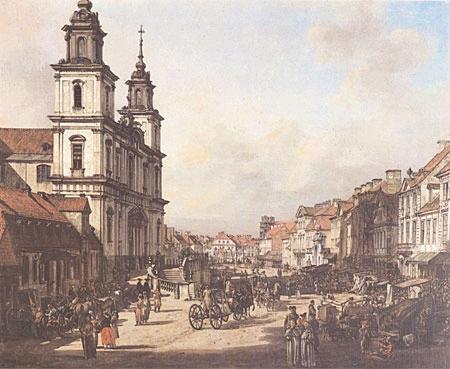 View of Cracow Suburb from Nowy Świat street, 1778 - Bernardo Bellotto
