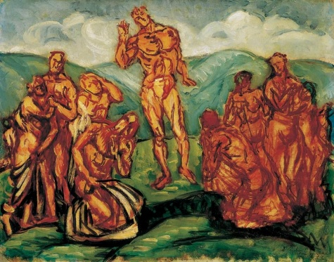 Sermon on the Mountain, 1911 - Bertalan Pór
