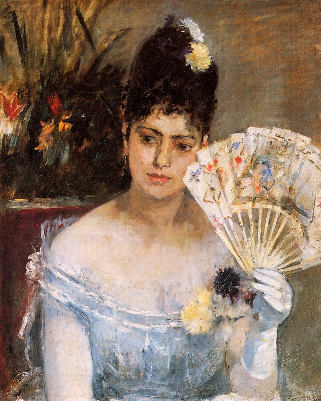 At the Ball, 1875 - Berthe Morisot - WikiArt.org