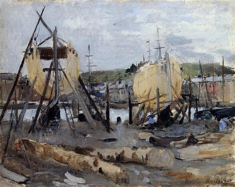 Boats under Construction, 1874 - Берта Моризо