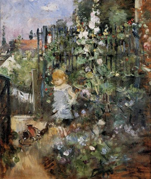 Child in the Rose Garden - Берта Моризо