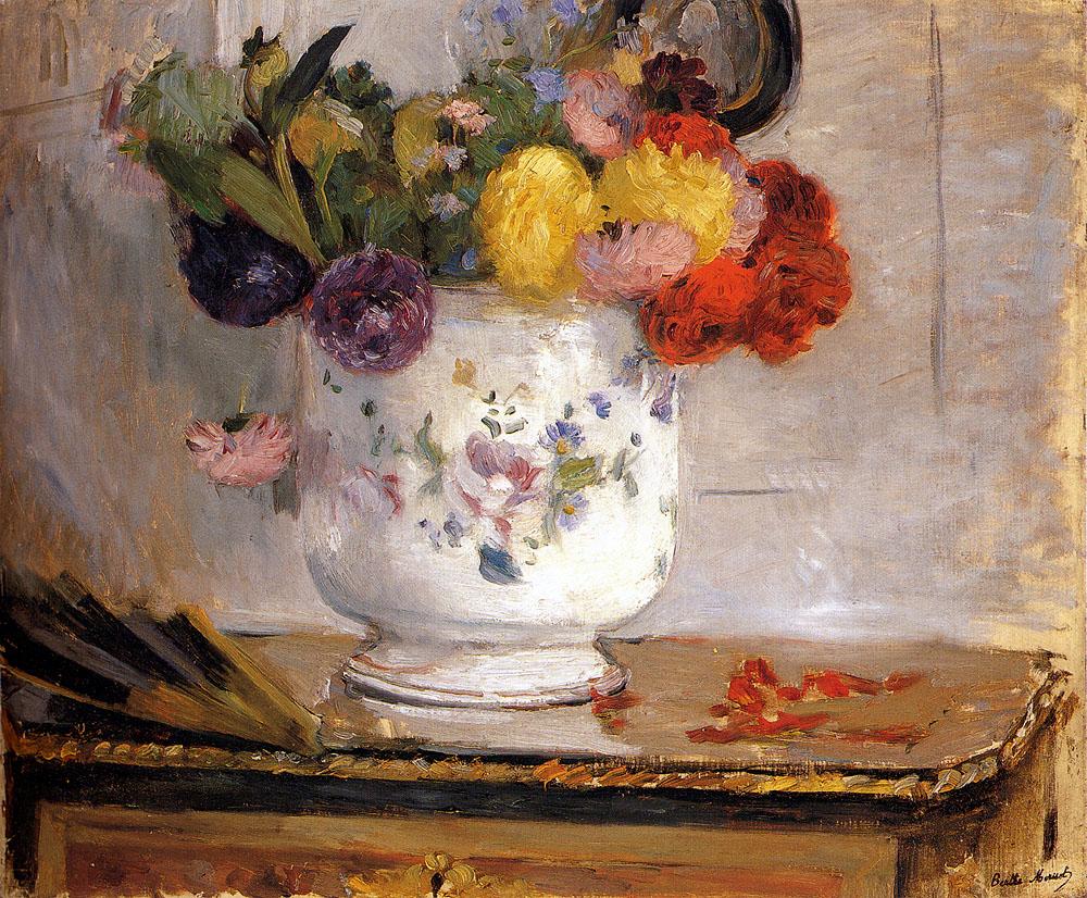 Dahlias, 1876 - Berthe Morisot - WikiArt.org