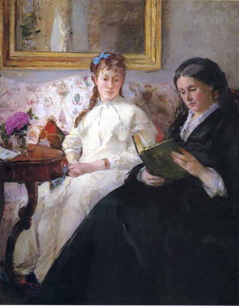 Portrait of the Artist's Mother and Sister, 1869 - 1870 - Berthe Morisot