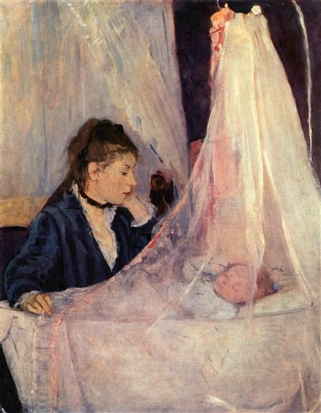 The Cradle, 1872 - Берта Моризо