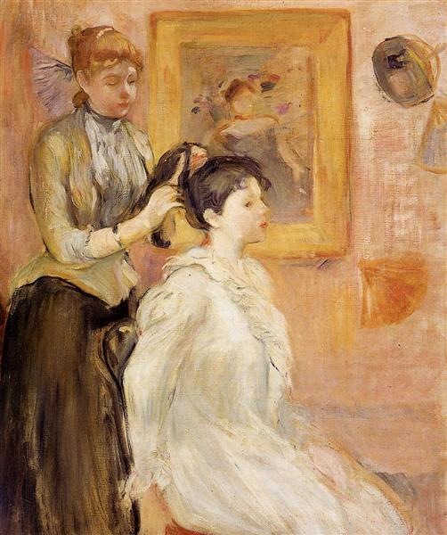The Hairdresser, 1894 - Berthe Morisot