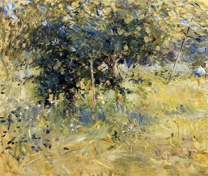 Willows in the Garden at Bougival, 1884 - Berthe Morisot