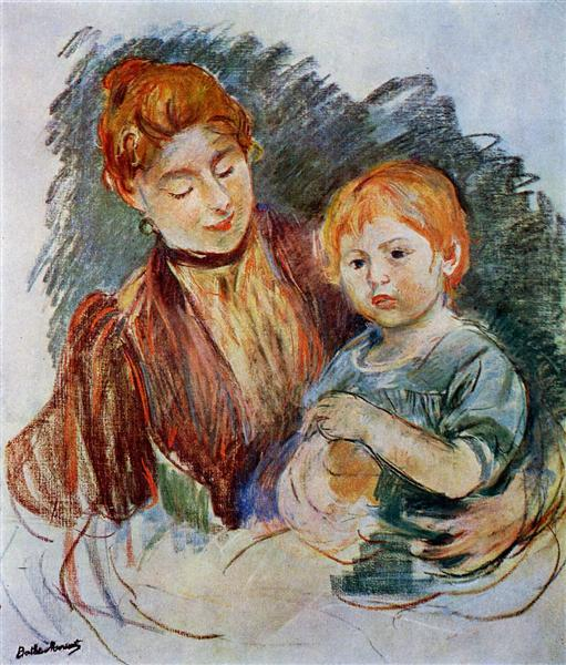 Woman and Child, 1894 - Berthe Morisot