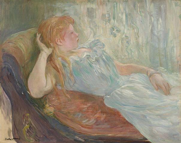 Young girl lying, 1893 - Berthe Morisot