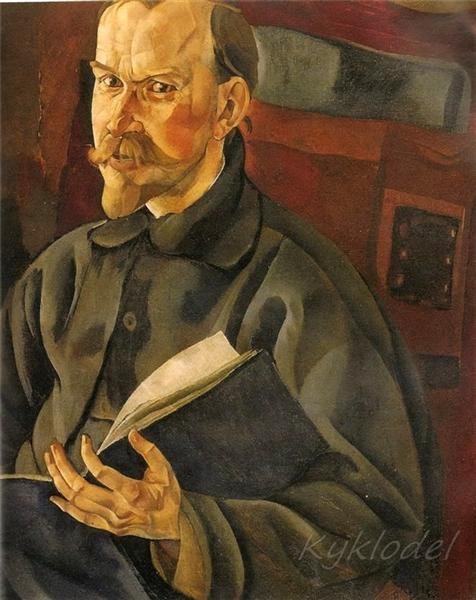Portrait of the Artist B.M. Kustodiev, 1917 - Boris Grigoriev