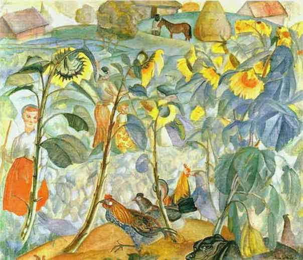 Sunflowers, 1919 - Boris Grigoriev