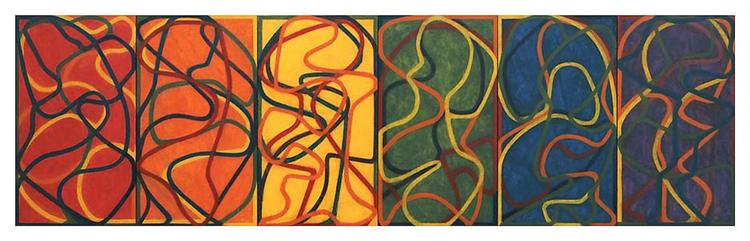 The Propitious Garden of Plane Image (Version One) - Brice Marden