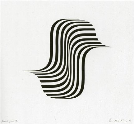 Untitled (Winged Curve), 1966 - Bridget Riley