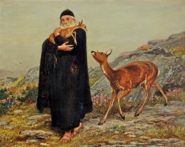 A Legend of Saint Patrick, 1877 - Briton Riviere