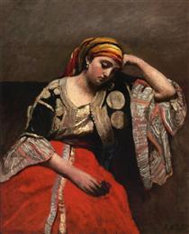 Italian Woman (Jewish Algerian Woman) - Camille Corot