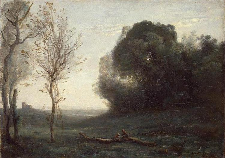 Morning, c.1855 - c.1865 - Camille Corot