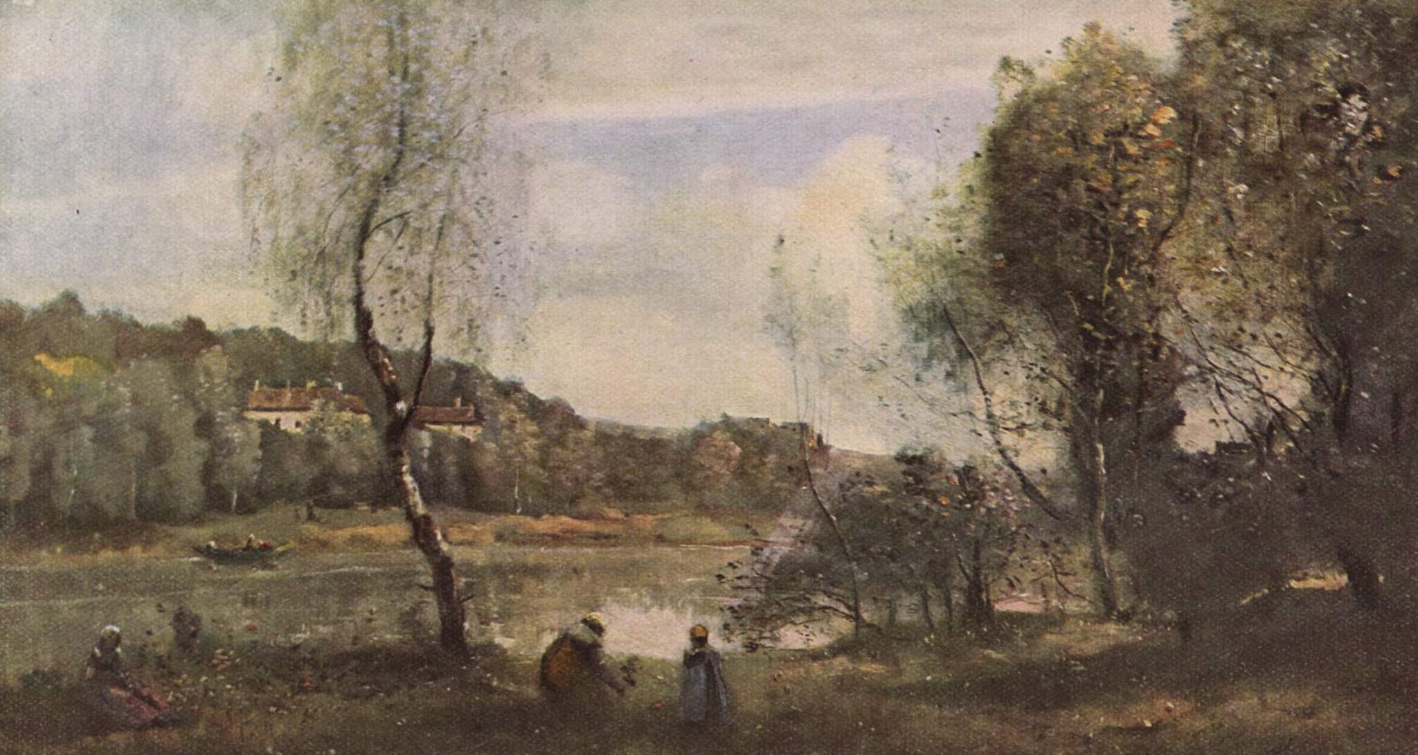 Pond of ville d 39 avray 1873 camille corot for Camille corot