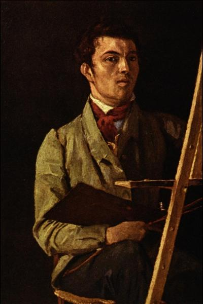 Self Portrait, Sitting next to an Easel, 1825 - Camille Corot