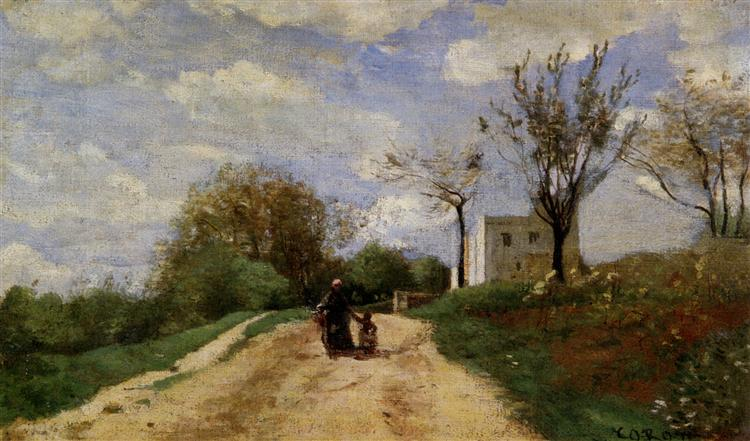 The Path Leading to the House, 1854 - Camille Corot