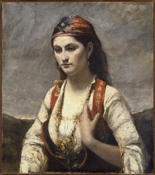 The Young Woman of Albano, c.1872 - Jean-Baptiste Camille Corot
