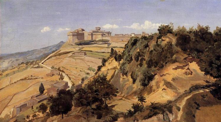 Voltarra the Citadel, 1834 - Camille Corot