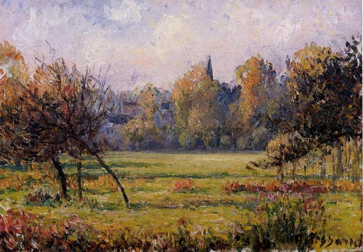 Landscape at Bazincourt  Pissarro Camille  WikiArt.org