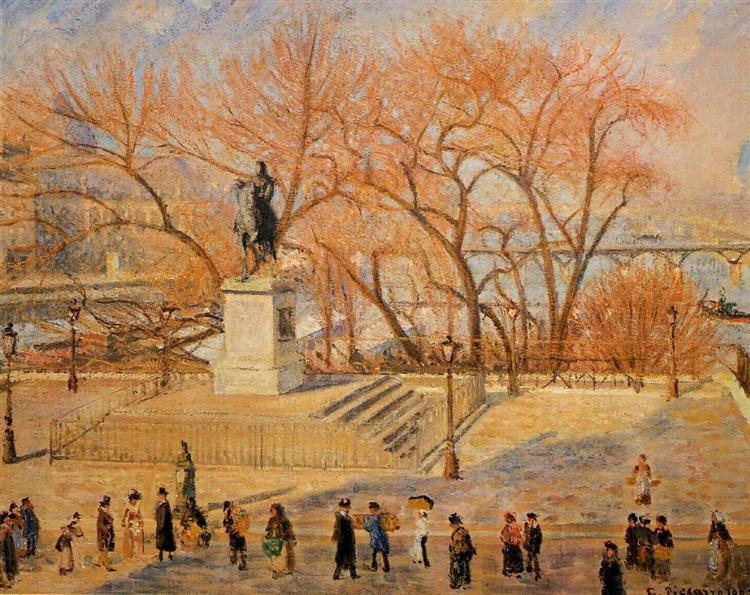 Square du Vert Galant, Sunny Morning - Pissarro Camille