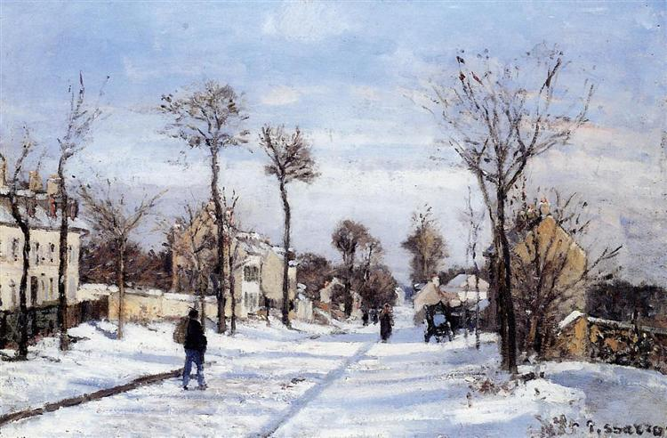 Street in the Snow, Louveciennes, c.1872 - Camille Pissarro