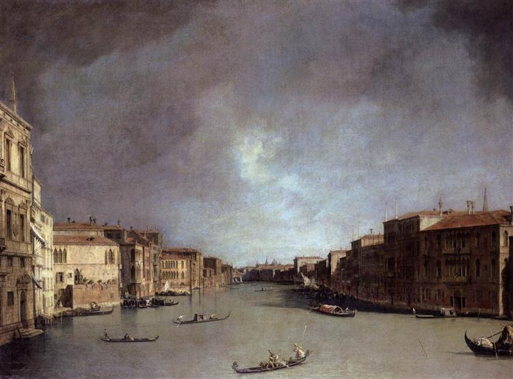 Grand Canal: Looking from Palazzo Balbi, c.1726 - Canaletto