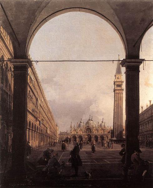 Place San Marco vers l'est vue de l'angle nord-ouest, c.1760 - Canaletto