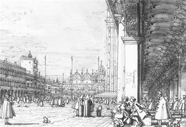 Piazza San Marco: Looking East from the South West Corner - Canaletto