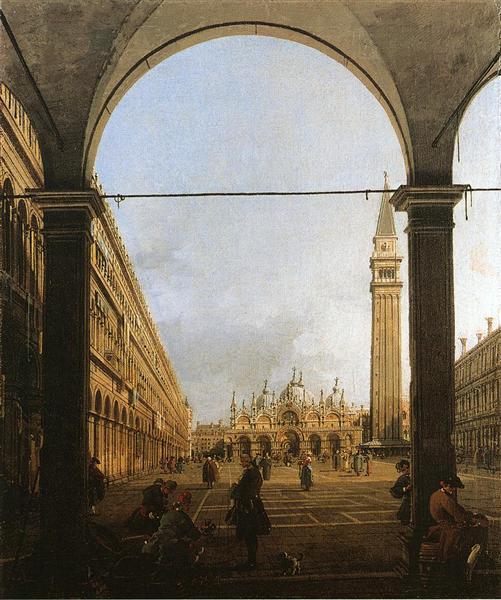 Piazza San Marco, Looking East - Giovanni Antonio Canal