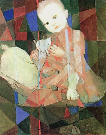 Denise com carneiro branco, 1961 - Кандіду Портінарі
