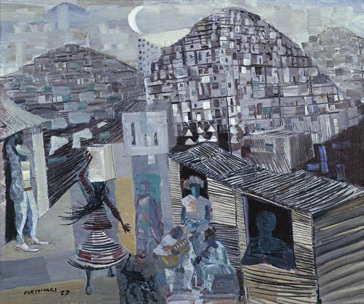 Favelas, 1930 - Candido Portinari
