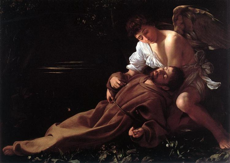 Saint Francis of Assisi in Ecstasy, c.1595 - Caravaggio