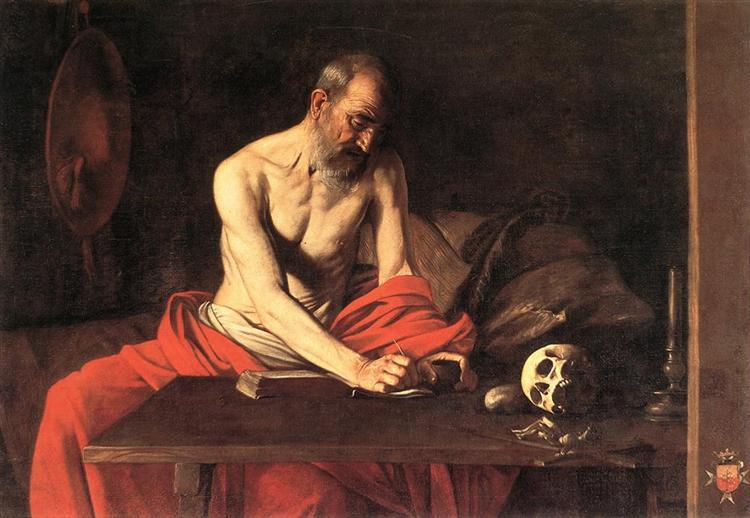 Saint Jerome Writing, 1607 - Caravaggio