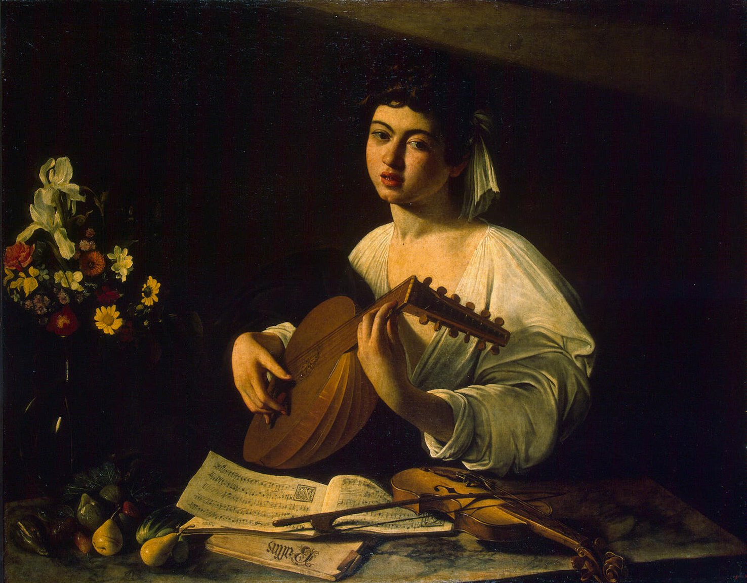 The Lute Player, c.1596 - Caravaggio - WikiArt.org