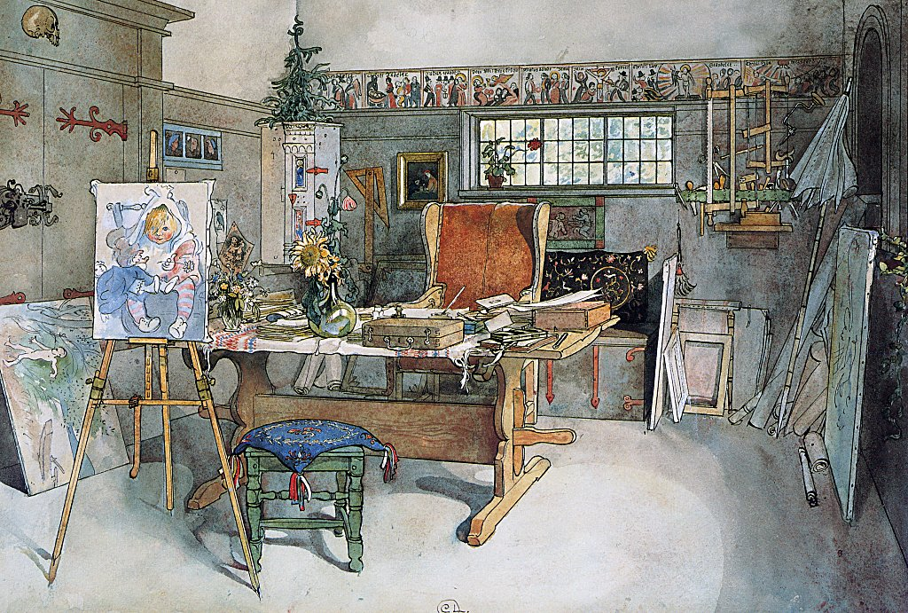 The studio carl larsson encyclopedia of for Carl stuer interieur