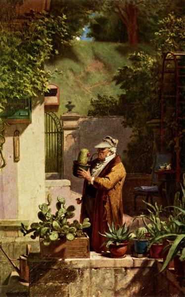 The Cactus Lover, c.1856 - Carl Spitzweg