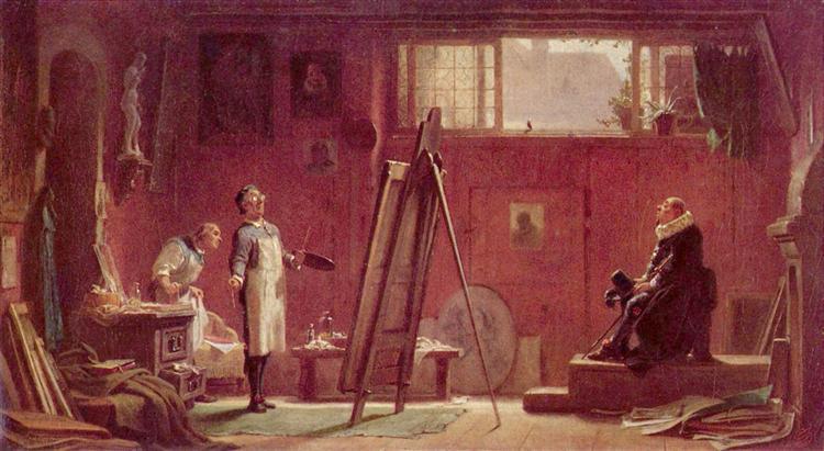 The portrait painter, 1855 - Carl Spitzweg