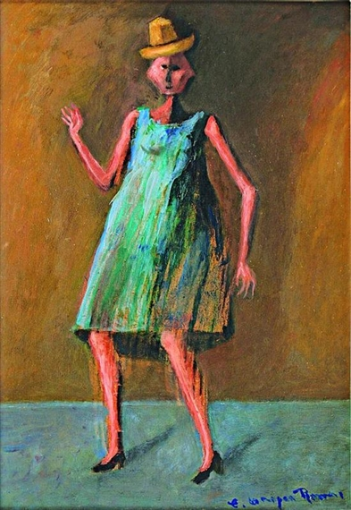 Mujer con sombrero-muñequita - Carlos Orozco Romero
