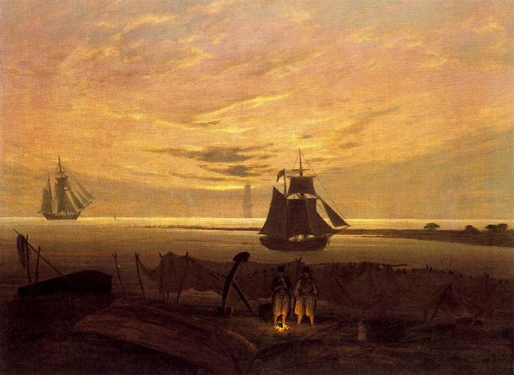 Evening on the Baltic Sea, 1830 - Caspar David Friedrich