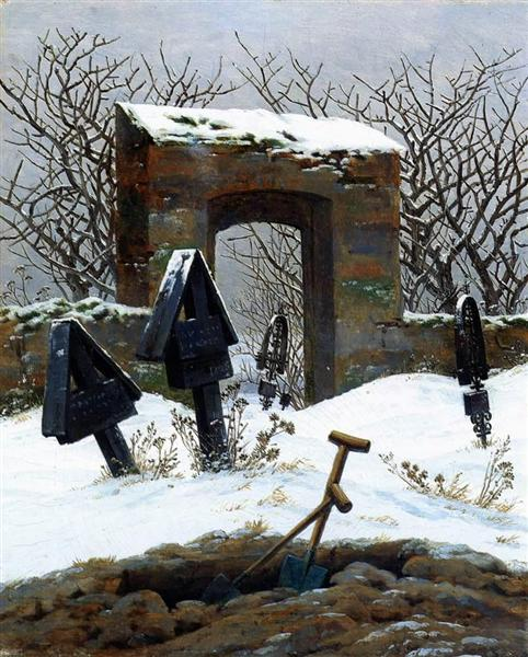 Graveyard under Snow, 1826 - Caspar David Friedrich