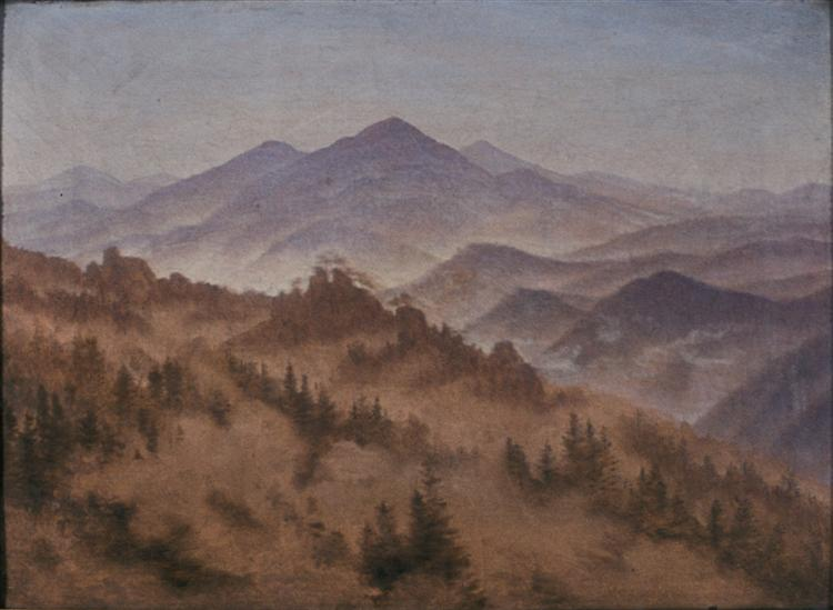 Landscape with the Rosenberg in Bohemian Switzerland, 1835 - Caspar David Friedrich